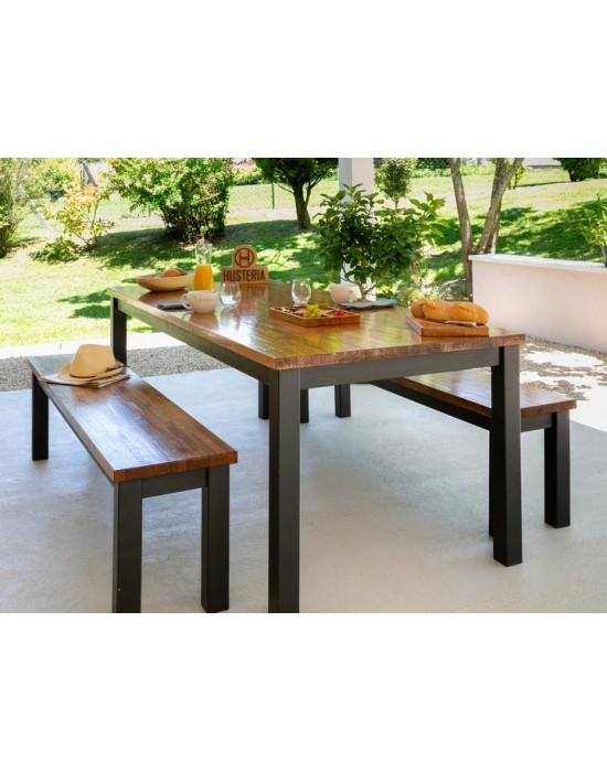 Table d'extérieur et bancs Chalosse